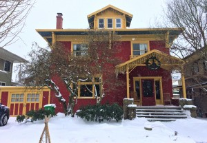 The Casa in snow