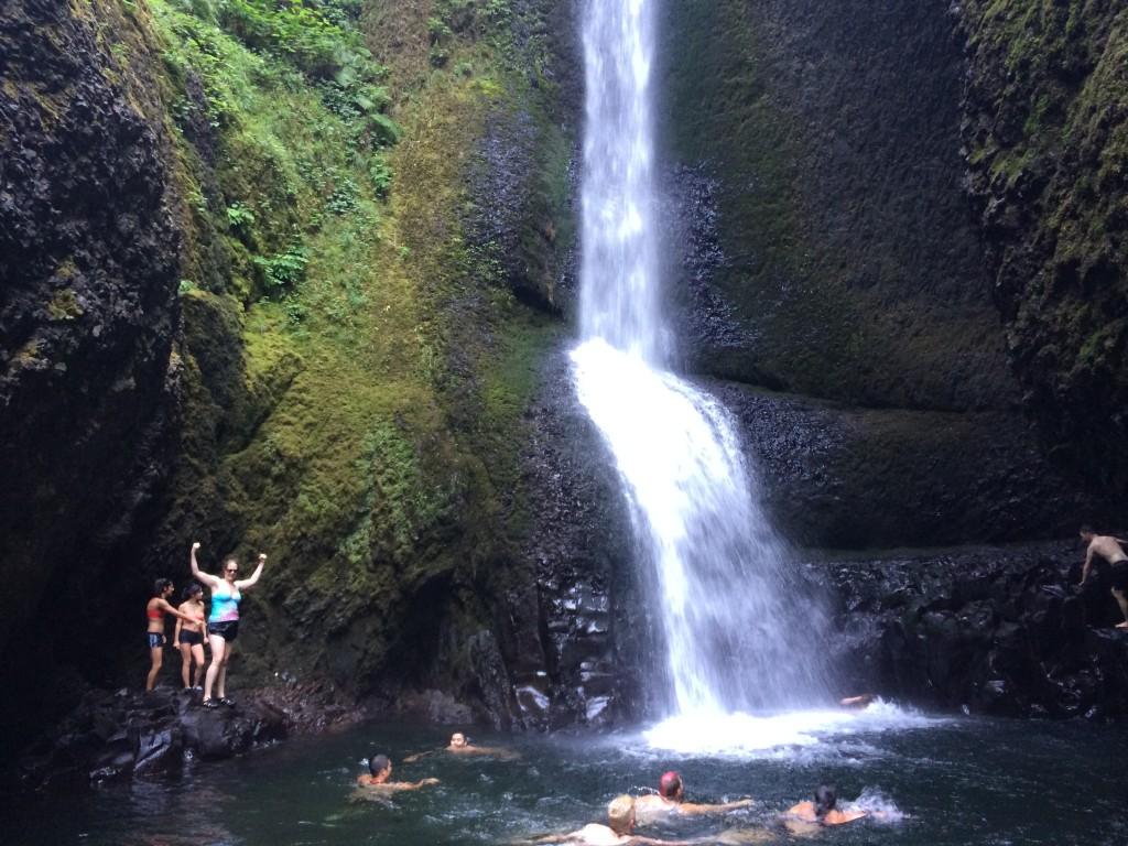 Bobo posing at Oneonta Falls